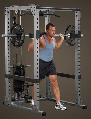 Squatting in Body Solid 378 Power Rack